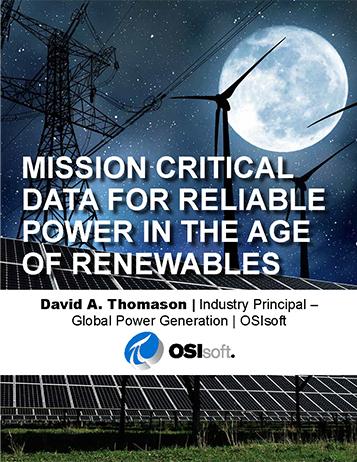 可再生能源时代可靠电力的关键任务数据